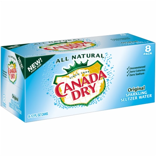 Canada Dry Original Sparkling Seltzer Water Perspective: left