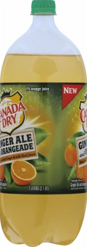 Canada Dry Ginger Ale and Orangeade Perspective: left
