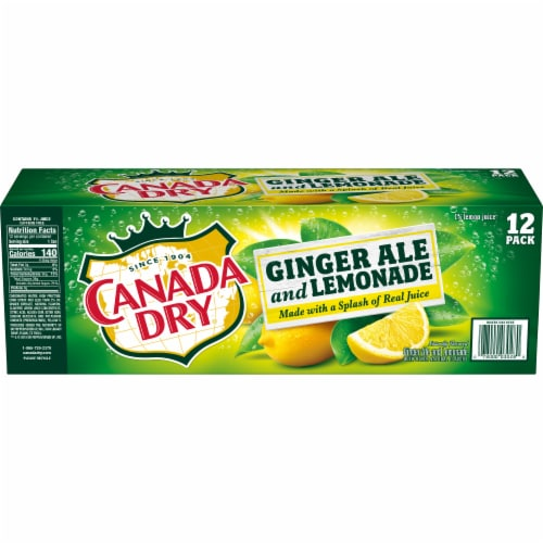 Canada Dry Ginger Ale and Lemonade Beverage Perspective: left