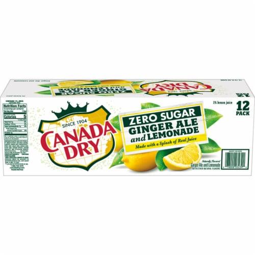 Canada Dry Zero Sugar Ginger Ale and Lemonade Soda Perspective: left