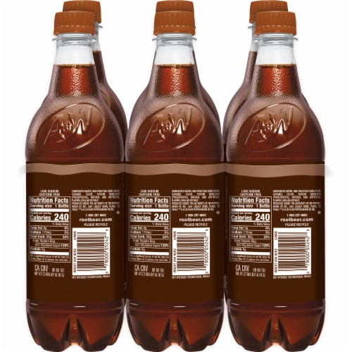 A&W Root Beer Soda Perspective: left
