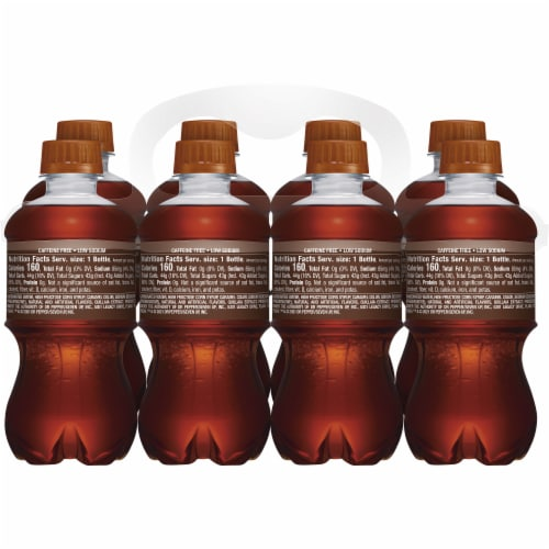 A&W Root Beer Soda 8 Bottles Perspective: left