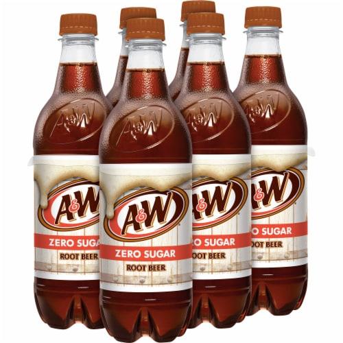 A&W Root Beer Zero Sugar Soda Perspective: left