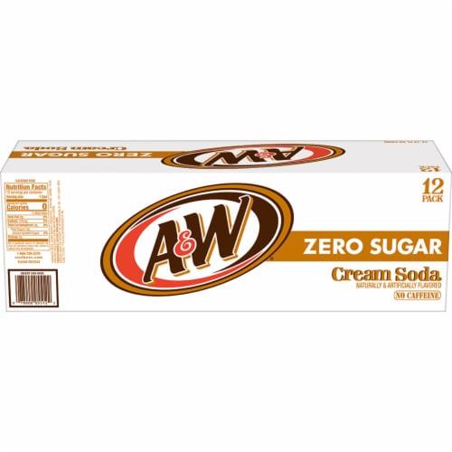 A&W Cream Zero Sugar Soda Perspective: left
