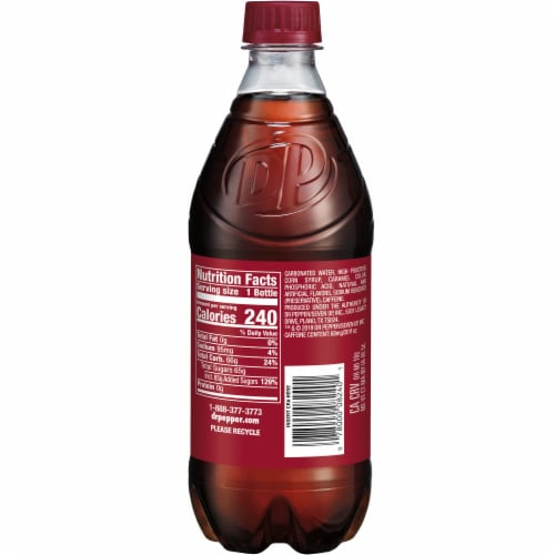 Dr Pepper Soda Perspective: left