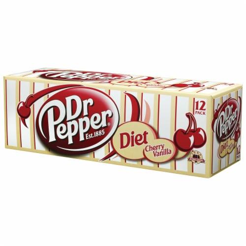 Dr Pepper Diet Cherry Vanilla Soda Perspective: left