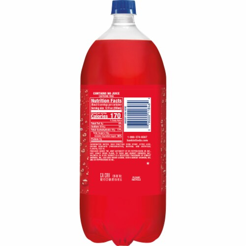 Sunkist Strawberry Soda Perspective: left