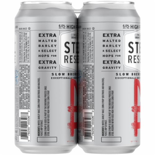 Steel Reserve High Gravity Malt Liquor Beer Perspective: left
