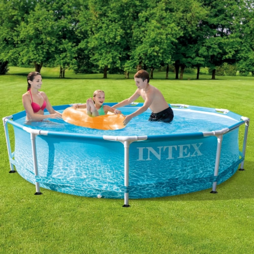 Bestway SaluSpa Miami 4-Person Portable Inflatable Round Air Jet Hot Tub Spa Perspective: left
