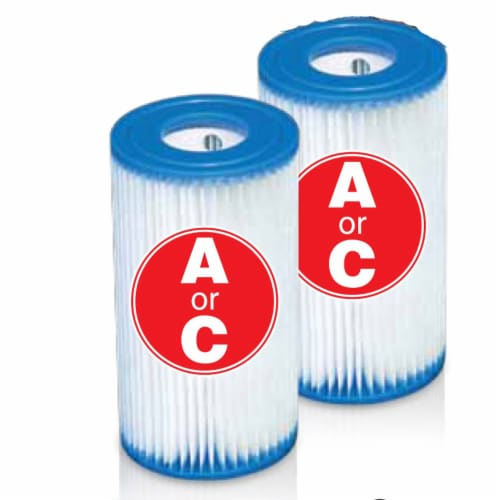 Intex Easy Set Swimming Pool Type A or C Filter Replacement Cartridges Pack Perspective: left