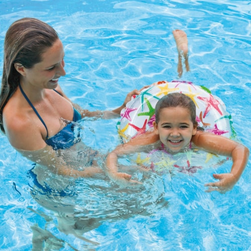 Intex 20-Inch Lively Ocean Friends Inflatable Kids Swim Ring Tube  Pool Float Perspective: left