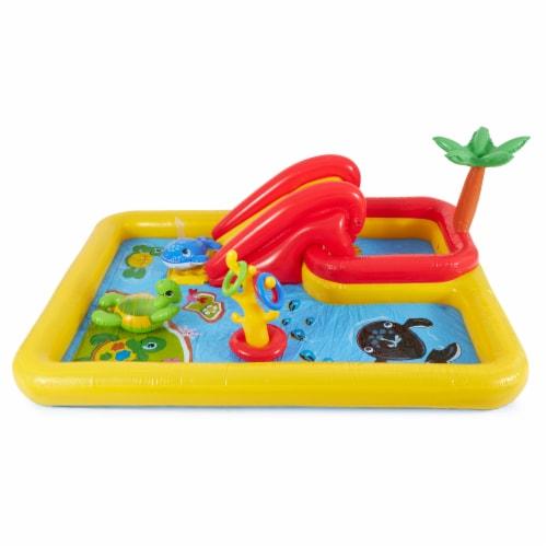 Intex Inflatable Ocean Play Center Kids Backyard Kiddie Pool & Games Perspective: left