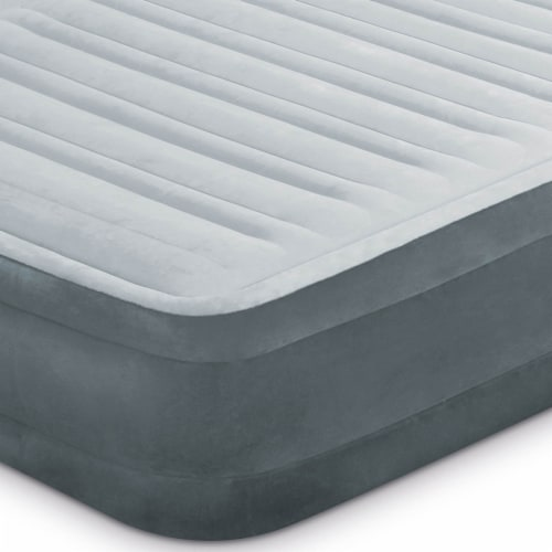 Intex Dura Beam Plus Series Mid Rise Airbed Mattress with Built In Pump, Queen Perspective: left