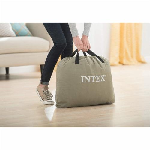 Intex Dura Beam Deluxe Pillow Raised Airbed Mattress with Built In Pump, Queen Perspective: left