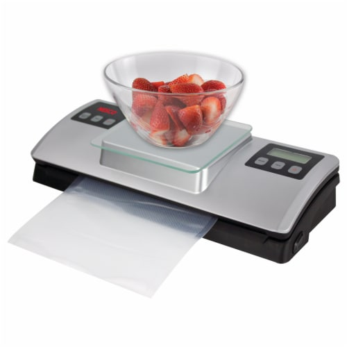 Nesco Deluxe Vacuum Sealer with Digital Scale Perspective: left