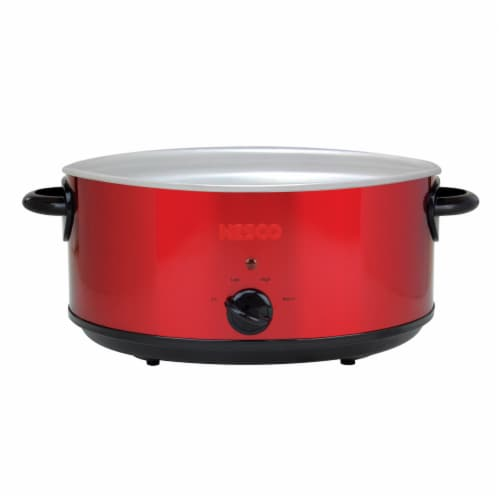 Nesco Stainless Steel Analog Slow Cooker - Red Perspective: left