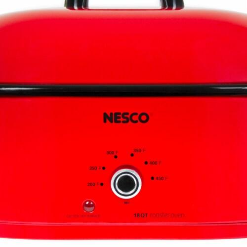 Nesco 6269807 Porcelain Roaster Oven - Chrome Red Perspective: left