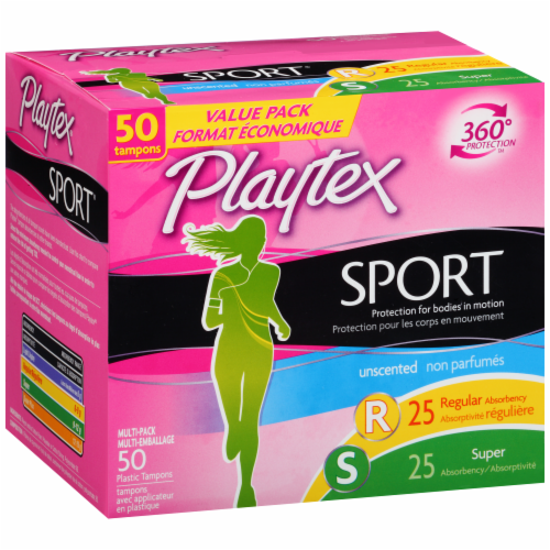 Playtex Sport Unscented Multi-Pack Tampons Perspective: left