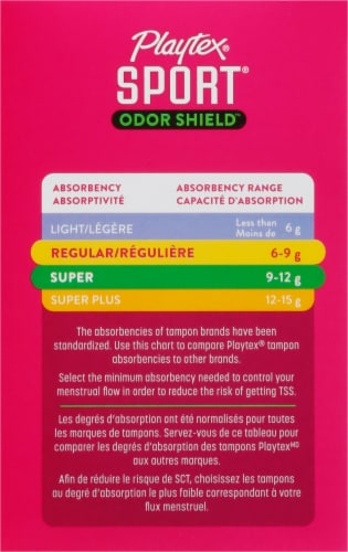 Playtex Sport Odor Shield Unscented Tampons Multipack Perspective: left