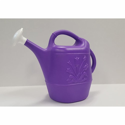 Union Products 63068 Indoor/Outdoor 2 Gallon Plastic Plant Watering Can, Purple Perspective: left