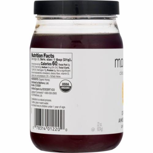 Madhava Organic Pure & Raw Honey Perspective: left