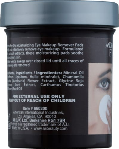 Andrea EyeQ's Makeup Remover Pads Perspective: left