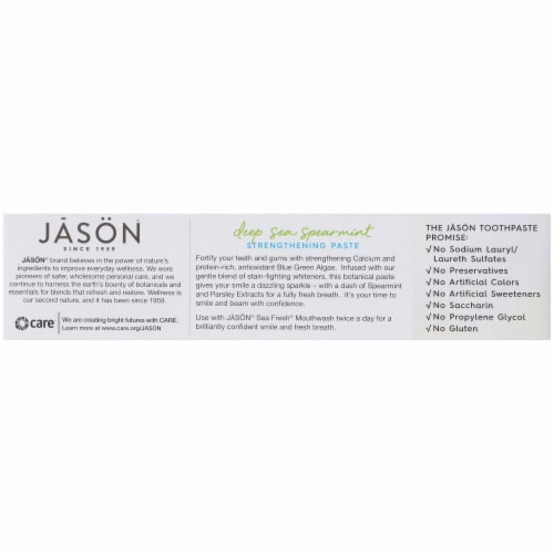 Jason Sea Fresh Deep Sea Spearmint Strengthening Toothpaste Perspective: left