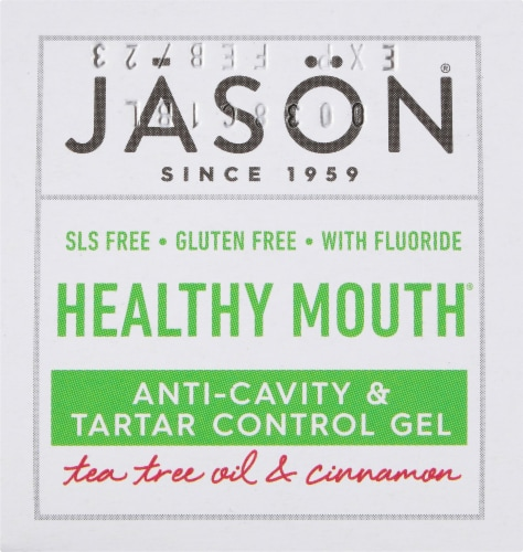 Jason Healthy Mouth Anti-Cavity & Tartar Control Gel Perspective: left