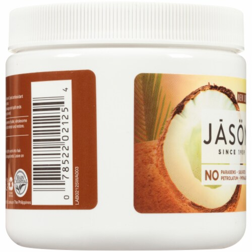Jason Smoothing Unrefined Coconut Oil Perspective: left