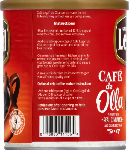 Cafe Legal Cafe De Olla Caramelized Sugar and Cinnamon Ground Coffee Blend Perspective: left