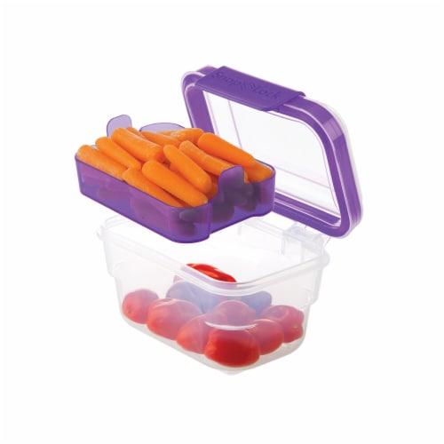 Progressive International Snaplock 2 Cup Capacity Snack To Go Plastic Container Perspective: left