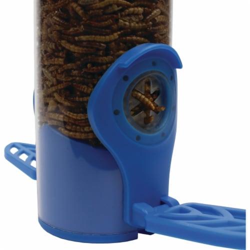 Woodstream 2 Port Dried Mealworm Tube Bird Feeder Perspective: left