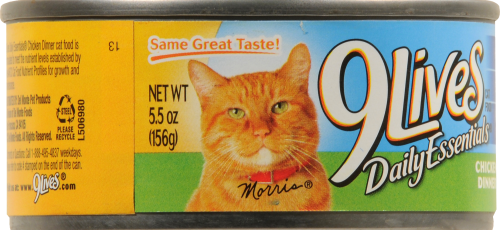 9Lives® Daily Essentials Chicken Dinner Wet Cat Food Perspective: left