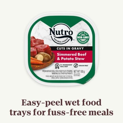 Nutro Grain Free Beef & Potato Stew Cuts in Gravy Wet Dog Food Perspective: left