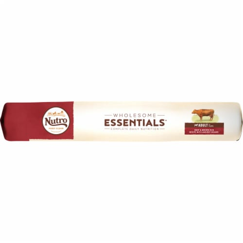 Nutro Wholesome Essentials Beef & Brown Rice Adult Dry Dog Food Perspective: left
