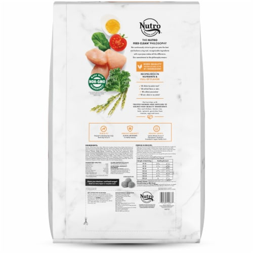 Nutro Wholesome Essentials Large Breed Chicken Brown Rice & Sweet Potato Recipe Adult Dry Dog Food Perspective: left