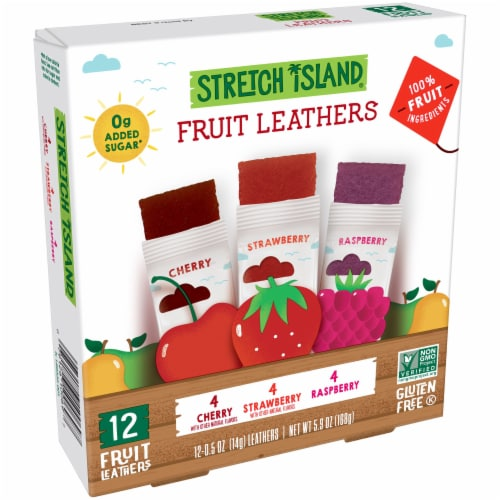 Stretch Island Cherry Strawberry & Raspberry Fruit Leathers Perspective: left
