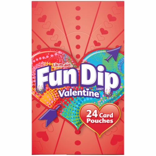 Fun Dip Lik-M-Aid Valentine Candy & Card Kit Perspective: left