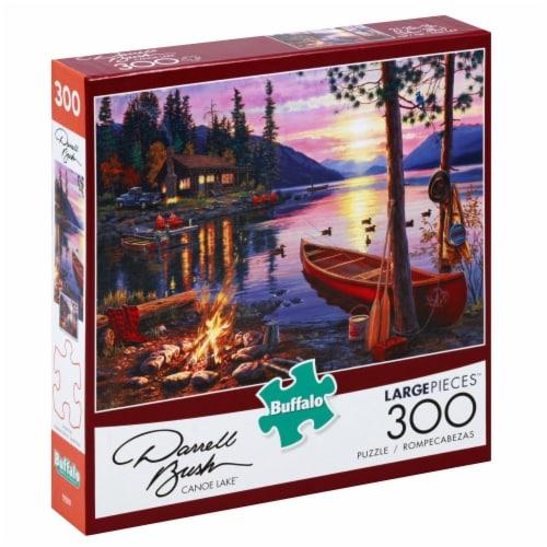 Buffalo Games Darrell Bush Canoe Lake Large Pieces Puzzle Perspective: left