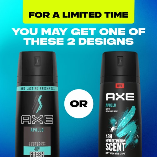 Axe Apollo Sage and Cedarwood 48H Deodorant Body Spray Perspective: left