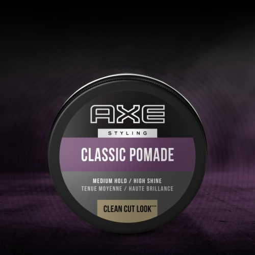 Axe Classic Clean Cut Look Hair Pomade Perspective: left