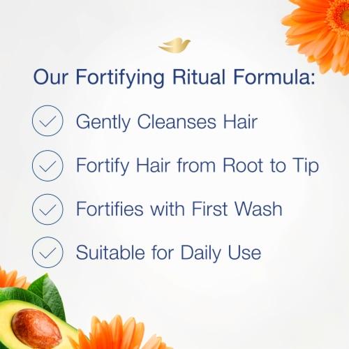 Dove Nourishing Rituals Fortifying Ritual Shampoo Perspective: left