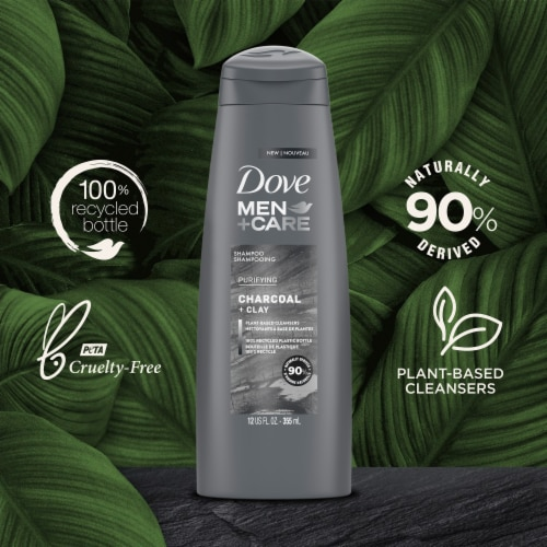 Dove Men Plus Care Charcoal Fortifying Shampoo Perspective: left