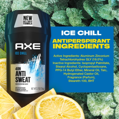 Axe Dry Ice Chill Frozen Lemon & Eucalyptus Deodorant Stick Perspective: left