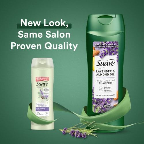 Suave® Lavender & Almond Oil Moisturizing Shampoo Perspective: left