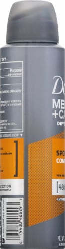Dove Men+Care Aerosol Sportcare Comfort Anti-Perspirant Dry Spray Perspective: left