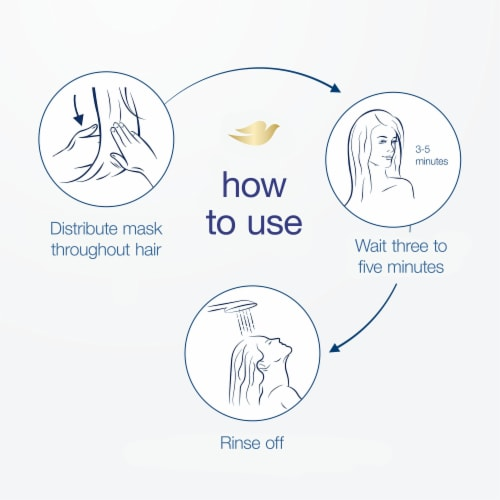 Dove Strengthens White Clay Mineral Hair Mask Perspective: left