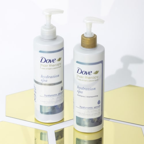 Dove Hair Therapy Hydration Spa Shampoo Perspective: left