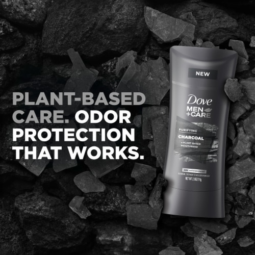 Dove Men+Care 48-Hour Sweat & Odor Protection Charcoal Antiperspirant Deodorant Stick Perspective: left