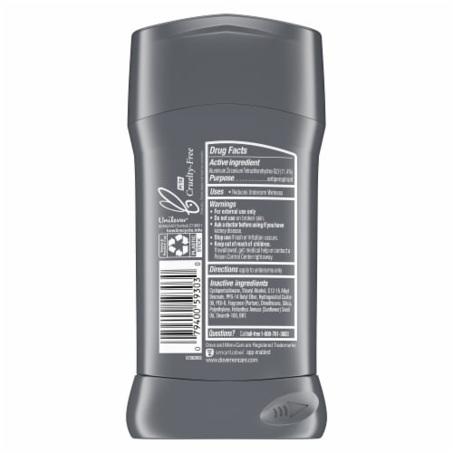 Dove Men + Care Stain Defense Clean Invisible Solid Antiperspirant Stick Perspective: left